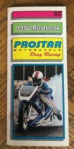 ProStar Motorcycle Drag Racing 1992 Rulebook