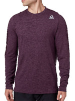 Brand New Reebok Men's 24/7 Crewneck Long Sleeve Shirt