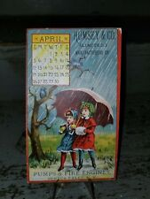 Very Rare 1885 Trade Card Rumsey & Co. Pumps & Fire Engines Seneca Falls NY Tuck