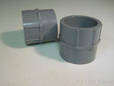 "Lot of (2) New Lasco 3"" CPVC Slip x Slip Female Socket Pipe Fittings, Sch 80"