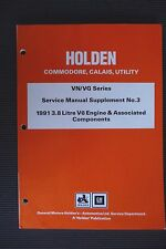 "HOLDEN COMMODORE "" VN / VG series "" 3.8 Litre V6 SERVICE / REPAIR MANUAL vgc"