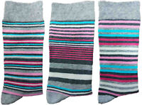 3 Pairs of Ladies JA38 Patterned Cotton Socks by Jennifer Anderton , UK Size 4-8