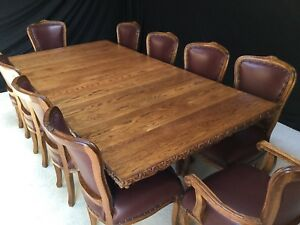 8FT ENGLISH OAK REGENCY STYLE DINING TABLE PROFESSIONALLY FRENCH POLISHED