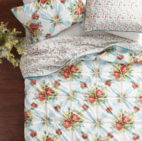 Pioneer Woman Vintage Floral 3-Piece King Quilt Sham Set • Cotton Polyester