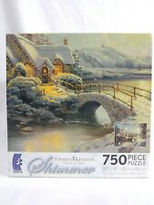 New Thomas Kinkade Christmas Moonlight SHIMMER 750 piece Jigsaw Puzzle Sealed