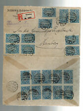 1923 Tonning Germany Inflation cover to Hamburg 20 stamps # 205