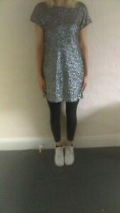 River Island Sequinned Going Out Dress Size 12/81cm long New with tags