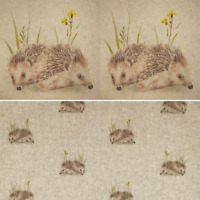 Digital Cotton Linen Fabric Hedgehog Curtain Upholstery Cushion Panel Quilting