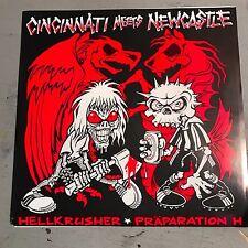 "PRAPARATION-H / HELLKRUSHER 7"" Record NEW -  HARDCORE PUNK CRUST GRINDCORE METAL"