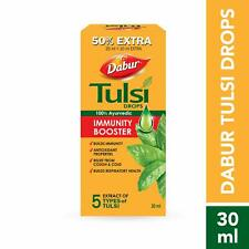 Dabur Tulsi Drops Antioxidant Natural Immunity Booster Holy basil Extract drop