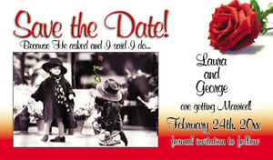 Save the Date Wedding Invitation Magnets Kim Anderson Theme
