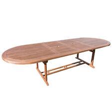 Tavolo da esterno allungabile ovale in legno di acacia 200 fino a 300 cm design