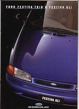 1994 FORD FESTIVA TRIO & GLi Australian Brochure - FORD ASPIRE & KIA AVELIA