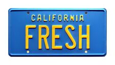 The Fresh Prince of Bel Air | Taxi | FRESH | STAMPED Replica Prop License Plate