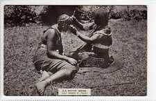 (Lv451-388) Real Photo of Zulu Woman at Toilet, South Africa c1920 Unused VG+