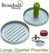 Large Heavy Duty trimestre Pounder HAMBURGER Burger MAKER Press, BARBECUE,