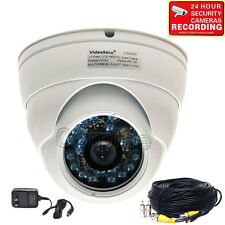 Dome Security Camera w/ SONY CCD 600TVL IR Day Night Outdoor Wide Angle CCTV me7
