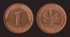 GERMANIA GERMANY 1 PFENNIG 1985 D