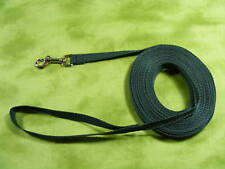 30 ft Dog Leash HUNTER GREEN Long Line GREAT VALUE !!