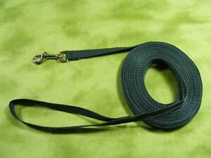 30 ft Dog Leash HUNTER GREEN Long Line GREAT VALUE !!