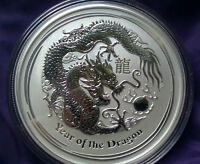 2012 1/2oz Silver Australian Year of the Dragon Coin Bullion