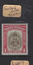 NORTH BORNEO  (P0804BB)  $1 ARMS, LION    SG 315   MNH