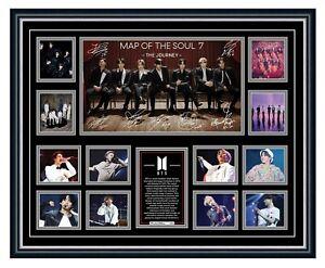 BTS MAP OF THE SOUL 7 2020 K-POP SIGNED PHOTO LIMITED EDITION FRAMED MEMORABILIA