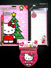 Hello Kitty Xmas Diary W/Pen,Magnetic List Pad,Heart Shape Notebook New!