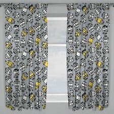 """Despicable Me Minions Jailbird Curtains Childrens Bedroom 66"""" X 72"""""""