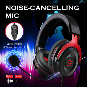 EKSA Gaming Headphones Noise Cancelling USB Wired Headset For Laptop/PC/Xbox/PS4