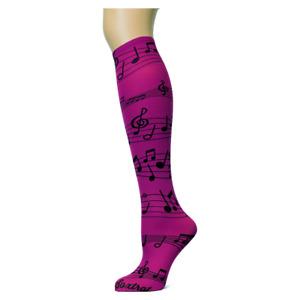 Musica Soxtrot Women's Thin Knee High Socks New Novelty Music No Heel Fashion
