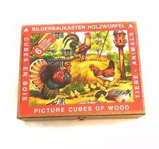 Bilderbaukasten Holzwurfel German Fairy Tale Picture Cubes of Wood Puzzle
