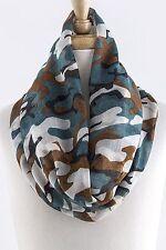 Camouflage Camo Infinity Scarf Wrap Cowl Cowgirl Hunter Fashion Lightweight