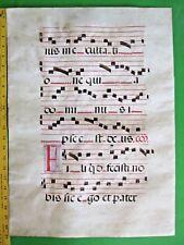 Gigantic Deco.Medieval Music Manuscript Leaf, on Vellum,ca.1480