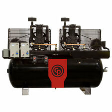 Chicago Pneumatic 5-Hp / 10-Hp 120-Gallon Two-Stage Duplex Air Compressor