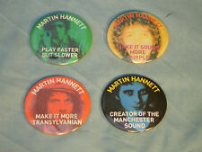 Martin Hannett Joy Division producer official set of four badges
