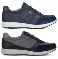 GEOX SP DYNAMIC U9276A scarpe uomo sneakers pelle camoscio tessuto stringhe
