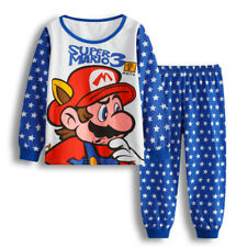 Super Mario Kids Pyjamas Set PJS Christmas Birthday Gift Character Nightwear