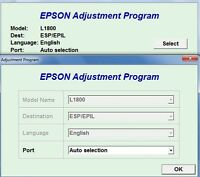 Reset Epson L1800 Waste Ink Counters Reset