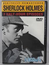 Sherlock Holmes 3 Episodes DVD 2004 #57269 Movie Classic Digitally Remastered