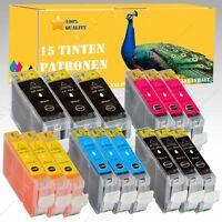 15x Tintepatronen kompatibel mit CANON Pixma IP 5200 / IP 5200R / IP 5300 8Serie