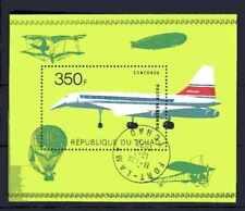Avions Tchad (20) bloc oblitéré