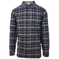 O'neill Men's Midnight Blue Redmond Plaid L/S Flannel Shirt (Retail $60)