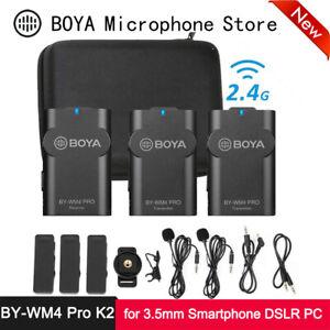 Boya BY-WM4 Pro K2 Dual Channel 2.4G Wireless Studio Condenser Microphone