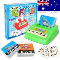 English Spelling Alphabet Letter Game Montessori Early Learning Educational AU