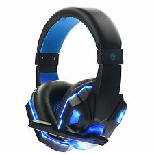 3.5mm Gaming Headset USB Mic LED Headphones Stereo Surround for Computer Laptop