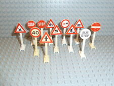 LEGO® City Stadt Town Zubehör 12x Straßenschilder Verkehr Zeichen 649 14 F2050