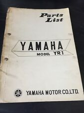 Yamaha YR1 Parts List Manual