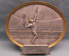 """oval plate male TENNIS resin award trophy PDU 8"""" size"""