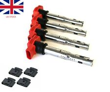 4x 06E905115D VW Audi R8 1.8T RED NGK Style Coilpack Coil Pack COPs W connectors